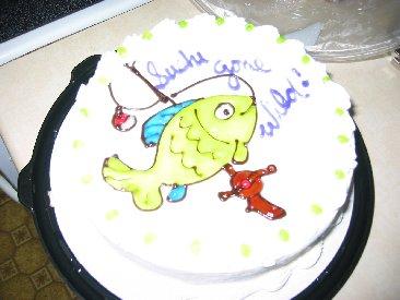 Cake...now that's team spirit!